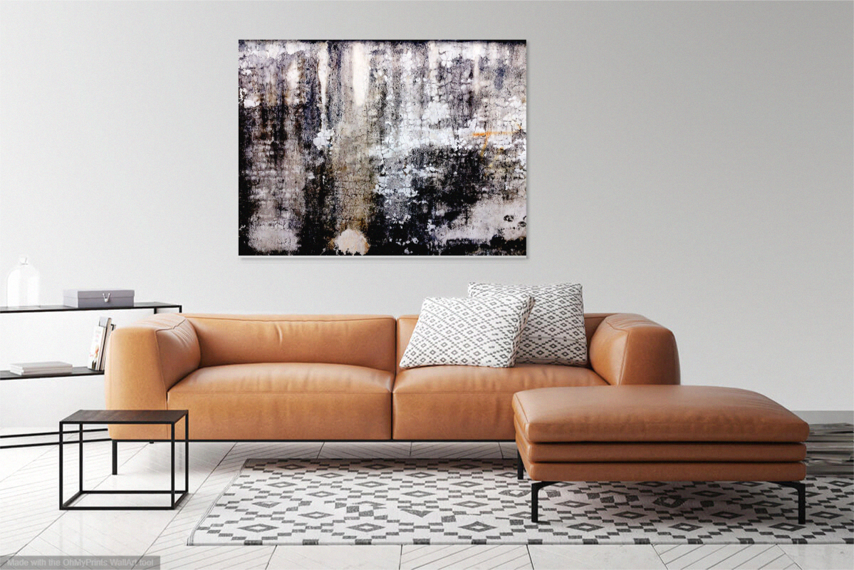 custom art print on aluminum, 30x40 inches, title: Wall One